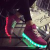 cheap Tie Up Led Luminous Lights Up Athletic Shoes