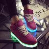 Buy Tie Led Luminous Lights Athletic Shoes 42 ROSE RED