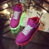 Tie Up Led Luminous Lights Up Athletic Shoes photo