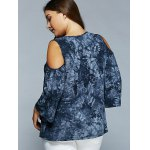 Cold Shoulder Tie-Dye Blouse deal