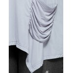 Ruched Pockets Asymmetrical Blouse for sale