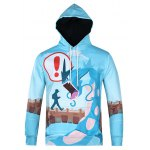 Cartoon Monster Printed Pullover Cool Hoodie