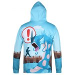 cheap Cartoon Monster Printed Pullover Cool Hoodie