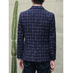 Plus Size Lapel Single-Breasted Checked Blazer for sale
