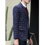 Plus Size Lapel Single-Breasted Checked Blazer deal