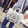 cheap Engraving Flower Hollow Out Tote Bag
