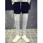 cheap Color Block Drawstring Waist Jogger Pants