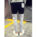 Color Block Drawstring Waist Jogger Pants deal