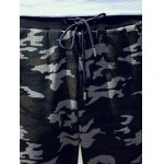 Drawstring Waist Camo Printed Pants deal
