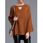 cheap High Low Pullover Sweater