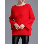 cheap Raglan Sleeve Loose Fitting Pullover Sweater