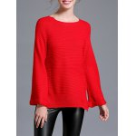 Raglan Sleeve Loose Fitting Pullover Sweater
