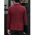 Plus Size Lapel Single-Breasted Slimming Cotton Blends Blazer deal