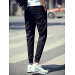 Brief Style Drawstring Waist Skinny Jogger Pants deal