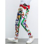 Five-Pocket Zipper Fly Printed Tapered Pants deal