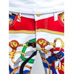 Five-Pocket Zipper Fly Printed Tapered Pants photo