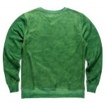 cheap Round Neck 3D Forest and Bicycle Print Long Sleeve Fleece Sweatshirt