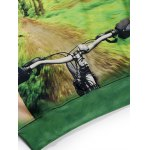 best Round Neck 3D Forest and Bicycle Print Long Sleeve Fleece Sweatshirt