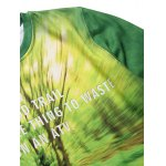 Round Neck 3D Forest and Bicycle Print Long Sleeve Fleece Sweatshirt deal