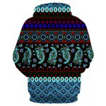 cheap Hooded 3D Ethnic Style Geometric Print Long Sleeve Hoodie
