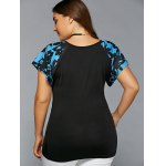 Plus Size Scoop Neck Spliced Blouse deal