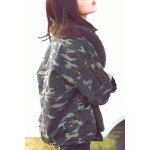 cheap Fur Collar Camouflage Jacket