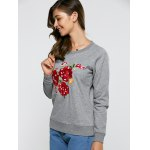 Floral Embroidered Casual Sweatshirt deal