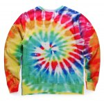 cheap Round Neck 3D Colorful Letter Print Long Sleeve Fleece Sweatshirt