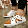 Eyelets Color Block Lace-Up Casual Shoes deal
