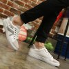 Eyelets Color Block Lace-Up Casual Shoes for sale