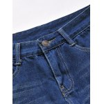 Zipper Fly Five-Pocket Straight Leg Jeans deal