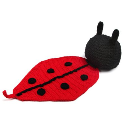 Coccinella Septempunctata Shape Knitted Blanket Photography