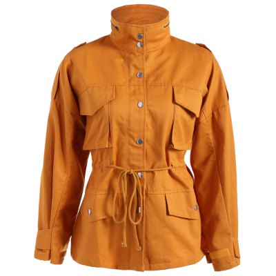 Pocket Drawstring Field Jacket