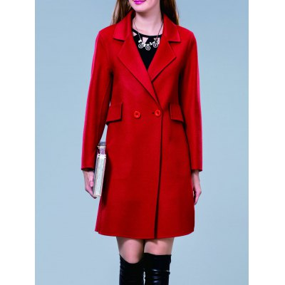 Double Breasted Lapel Coat