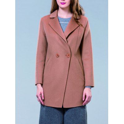 Double-Breasted Lapel Coat
