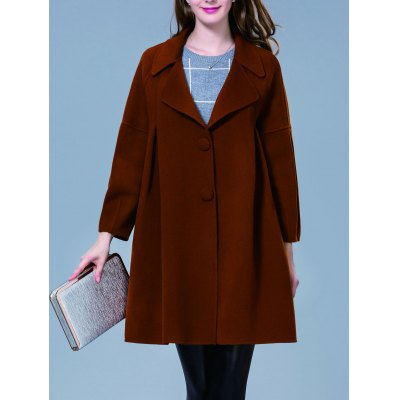 Single Breasted Drop Sleeve Coat