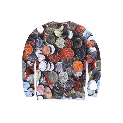 round-neck-3d-coins-print-long-sleeve-sweatshirt