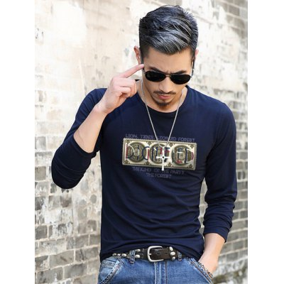Long Sleeve Graphic Pattern T-Shirt