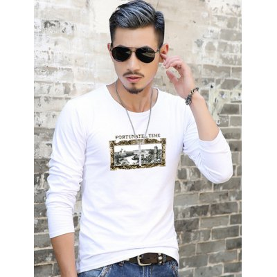 Long Sleeve Scene Print T-ShirtMens Long Sleeves Tees<br>Long Sleeve Scene Print T-Shirt<br><br>Material: Cotton Blends<br>Sleeve Length: Full<br>Collar: Round Neck<br>Style: Casual<br>Pattern Type: Print<br>Season: Fall,Spring<br>Weight: 0.257kg<br>Package Contents: 1 x T-Shirt