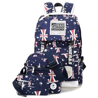 Print Canvas Backpack