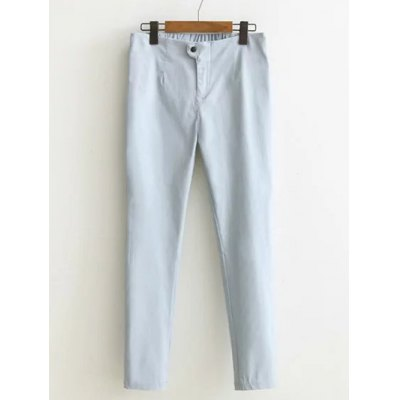 High-Waisted Buttoned Pants