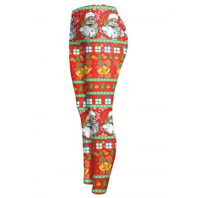 Slim Santa Claus Print Christmas LeggingsPlus Size Bottoms<br>Slim Santa Claus Print Christmas Leggings<br><br>Style: Fashion<br>Length: Ninth<br>Material: Polyester,Spandex<br>Fit Type: Skinny<br>Waist Type: Mid<br>Closure Type: Elastic Waist<br>Pattern Type: Print<br>Pant Style: Pencil Pants<br>Weight: 0.175kg<br>Package Contents: 1 x Leggings