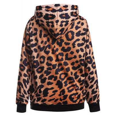 Leopard Print Pocket Design HoodiePlus Size Outerwear<br>Leopard Print Pocket Design Hoodie<br><br>Material: Polyester<br>Clothing Length: Regular<br>Sleeve Length: Full<br>Collar: Hooded<br>Style: Fashion<br>Season: Fall,Spring<br>Pattern Type: Print<br>Weight: 0.468kg<br>Package Contents: 1 x Hoodie
