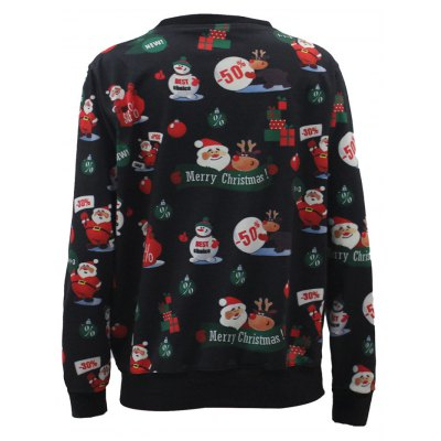 Santa Claus 3D Print Christmas SweatshirtPlus Size Tops<br>Santa Claus 3D Print Christmas Sweatshirt<br><br>Material: Polyester<br>Clothing Length: Regular<br>Sleeve Length: Full<br>Collar: Round Neck<br>Style: Fashion<br>Season: Fall,Spring<br>Embellishment: 3D Print<br>Pattern Type: Print<br>Weight: 0.375kg<br>Package Contents: 1 x Sweatshirt