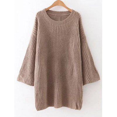 Relaxed Fit Long Sleeve Sweater Dress