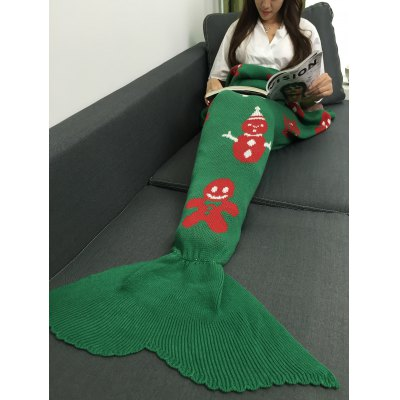 Christmas Mermaid Tail Blanket