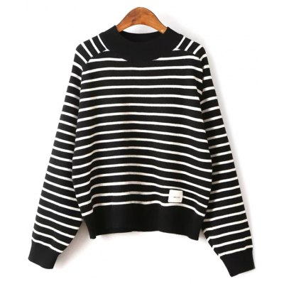 Raglan Sleeve Striped Sweater