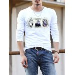 Casual Round Neck 3D Print T-Shirt
