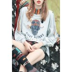 High Low Print Sweatshirt deal
