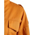 Casual Pocket Drawstring Field Jacket deal